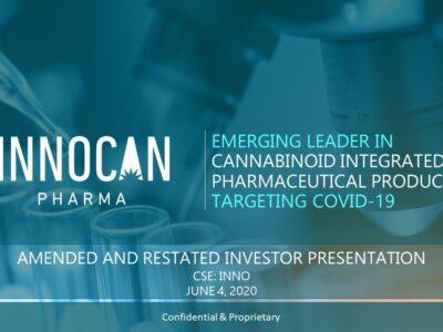 Az Innocan 12.5 millió dollárt keres be a CBD-alapú COVID-19 kezelés fejlesztésére