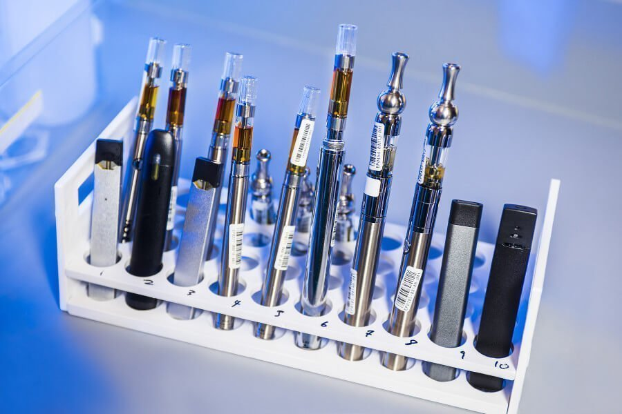 Meerdere soorten vape pennen (https://unsplash.com/photos/3_OGgbdPIdA)