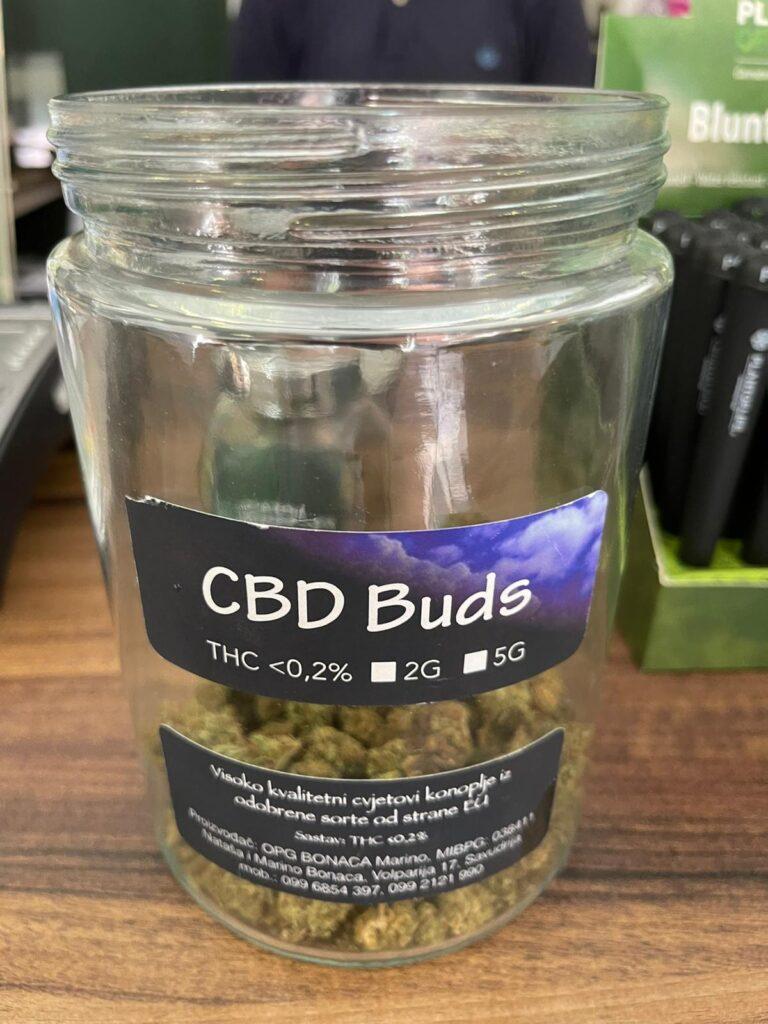 cbd buds in kroatie